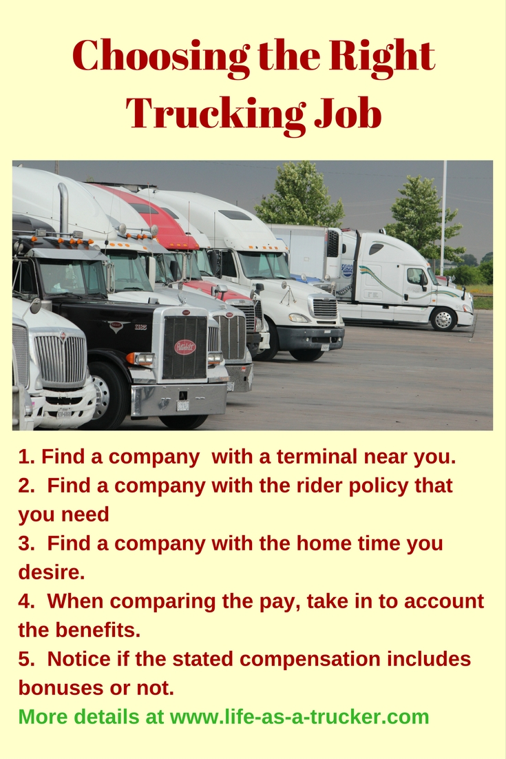 Choosing the right trucking company is very important for your happiness and success.