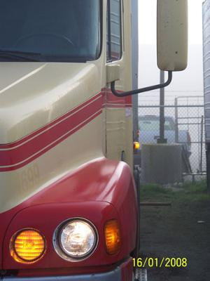 Freightliner at truck driving school