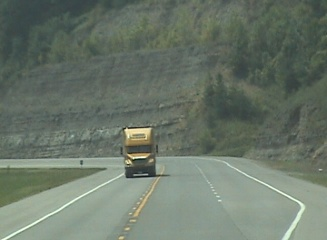 Picture of trucker headed to ohio on the AA highway 9