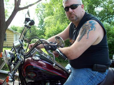 Me and my 2002 Harley Wide Glide