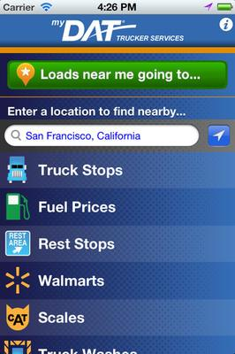 My DAT Trucker Services mobile app