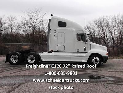 Schneider Used White Frieghtliner