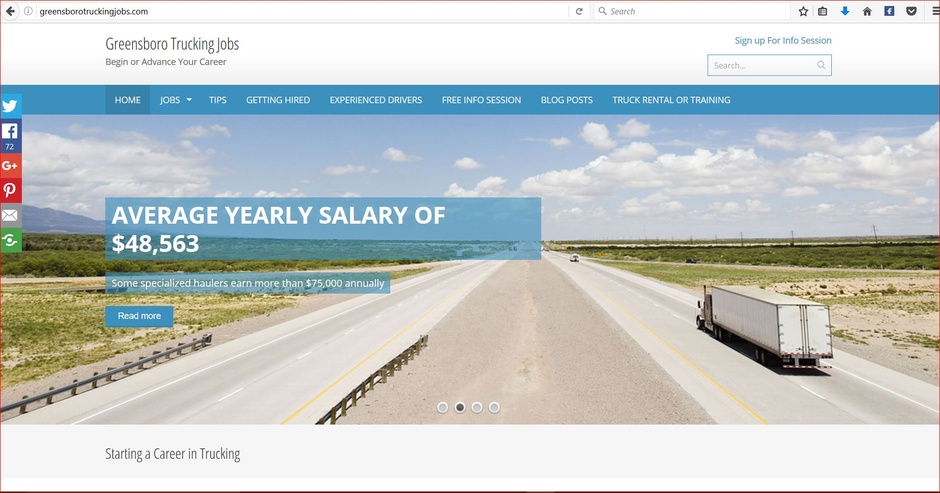 Greensboro Trucking Jobs Website