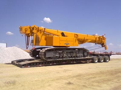 one of the small cranes we haul