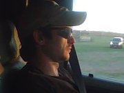 I took this picture on my phone of my husband driving when I got to ride along...