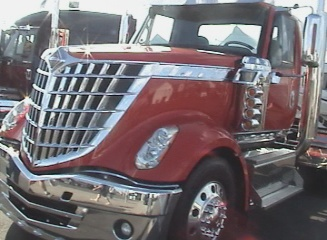chromed out day cab big truck