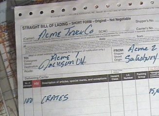 shippers bill of lading 