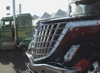 closeup of the ill international big truck