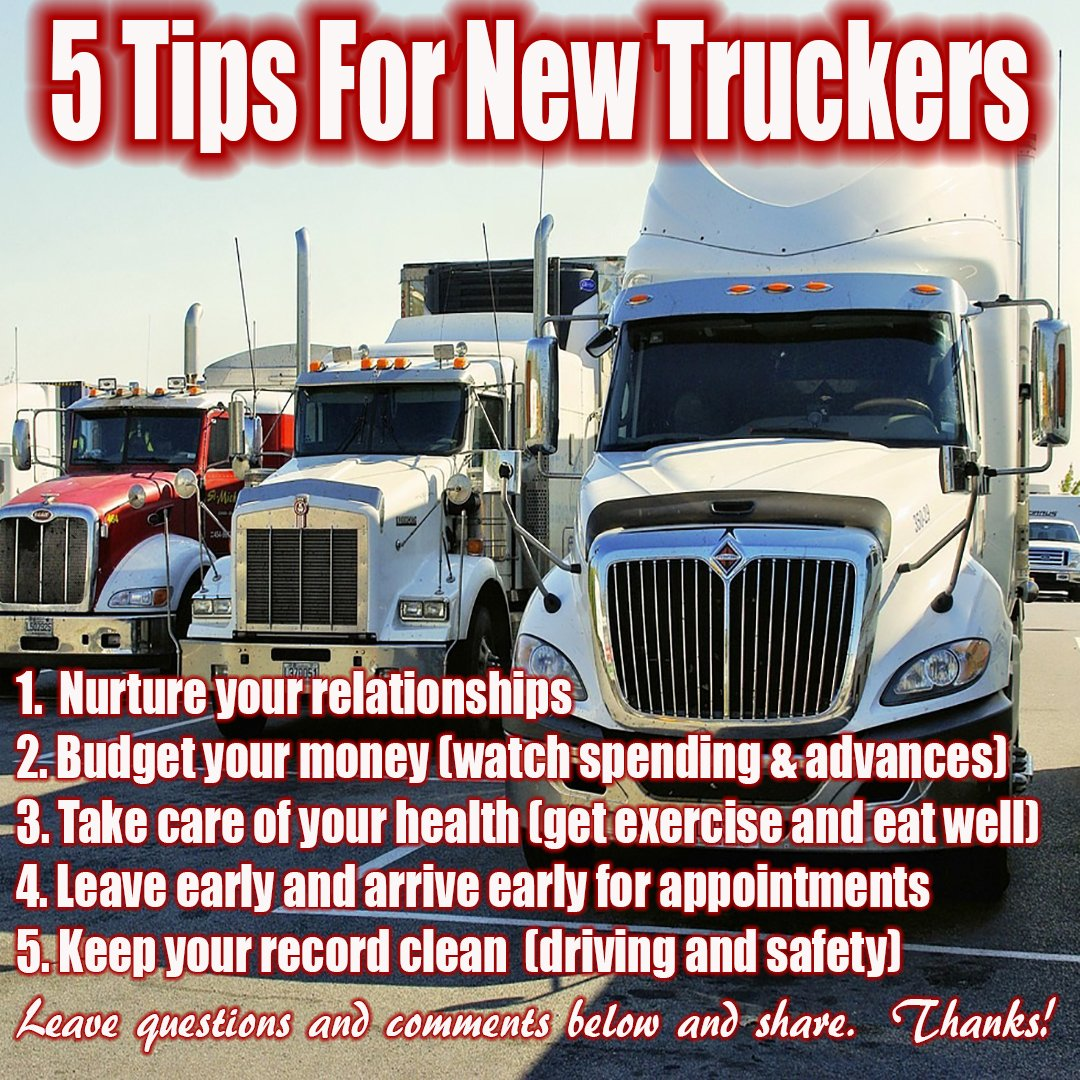 5 Trucking tips for new drivers