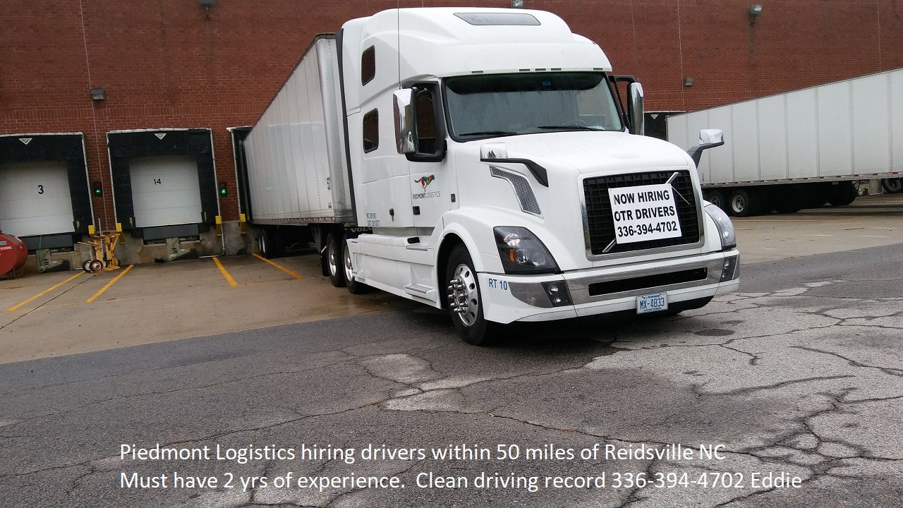 Small trucking company hiring in Reidsville NC area.