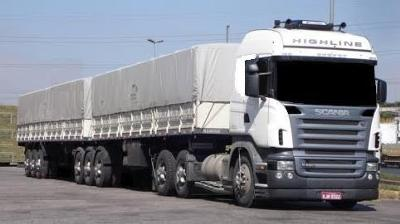 cabover with 2 trailors