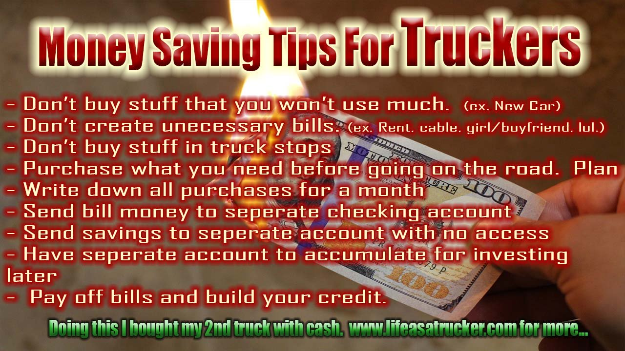 Money saving tips for truckers