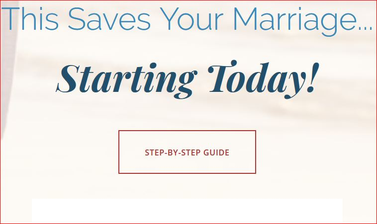 There are ways to save your marriage
