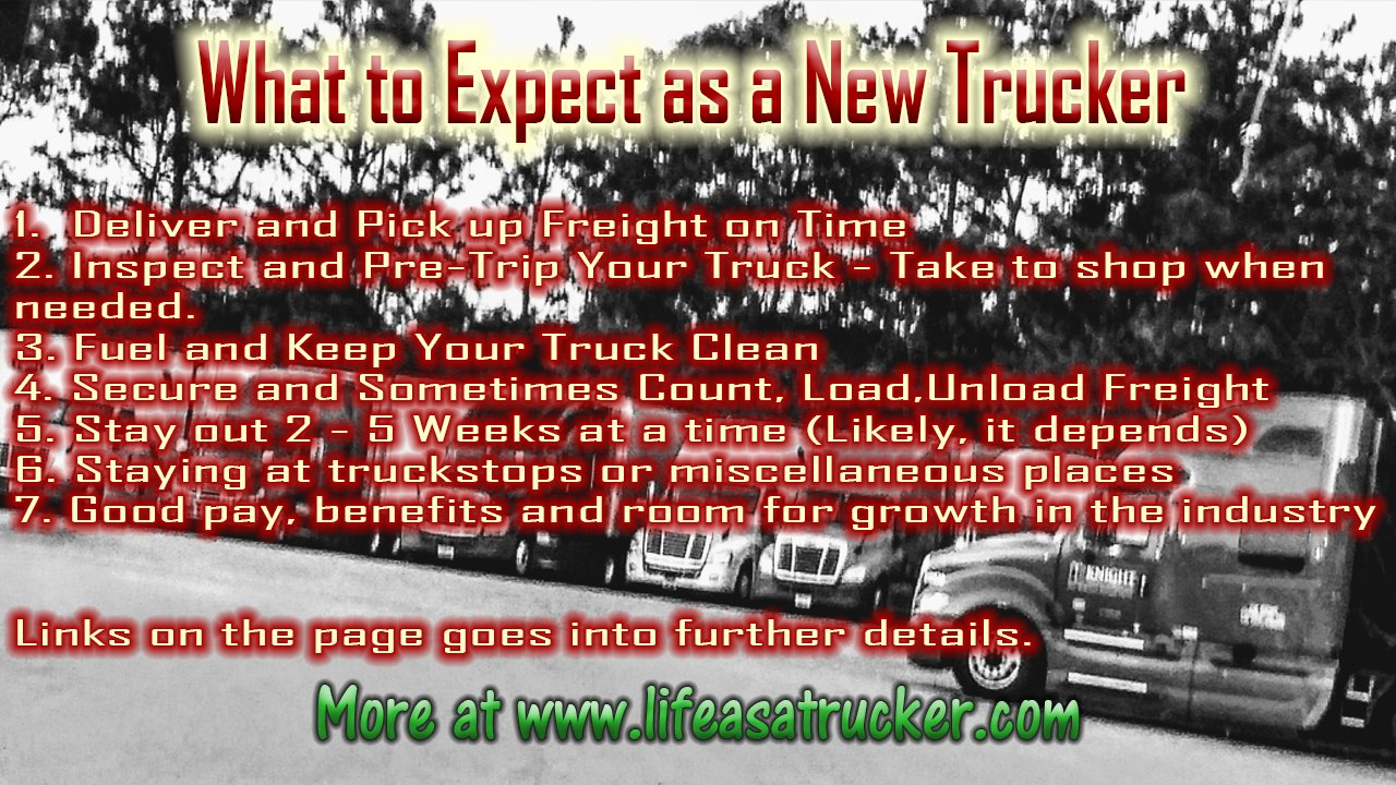 What to Expect as a Truck Driver