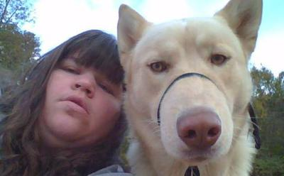 Me and our dog Thunder